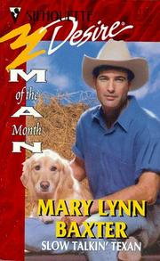 Cover of: Slow Talkin' Texan (Man Of The Month)