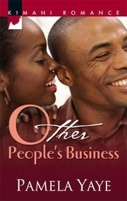 Cover of: Other People's Business