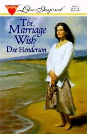 Cover of: The Marriage Wish (Love Inspired, No. 17)