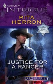 Cover of: Justice For A Ranger