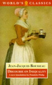 Cover of: Discourse on the origin of inequality | Jean-Jacques Rousseau