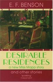 Cover of: Desirable residences and other stories