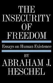Cover of: Insecurity of Freedom