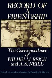 Cover of: Record of a friendship