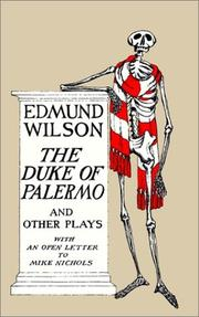 Cover of: The Duke of Palermo and Other Plays