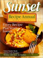 Cover of: Sunset Recipe Annual 2002 (Sunset Recipe Annual) | Sunset Books
