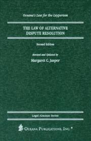 Cover of: The Law of Dispute Resolution