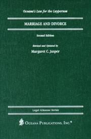 Marriage and divorce by Margaret C. Jasper