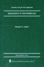 Cover of: Harassment in the workplace | Margaret C. Jasper