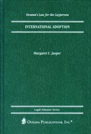 Cover of: International Adoption (Oceana's Legal Almanac Series  Law for the Layperson) | Margaret Jasper