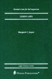Lemon Laws (Oceanas Legal Almanac Series  Law for the Layperson)