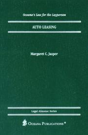 Cover of: Auto Leasing (Oceana's Legal Almanac Series  Law for the Layperson)