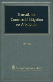 Cover of: Transatlantic Commercial Litigation and Arbitration