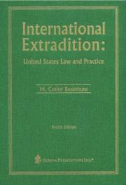 Cover of: International extradition | M. Cherif Bassiouni