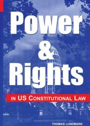 Cover of: Power & rights in US constitutional law