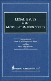 Cover of: Legal Issues in the Global Information Society | Salzburg Center for International Legal Studies