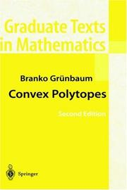 Cover of: Convex Polytopes