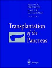 Cover of: Transplantation of the Pancreas |