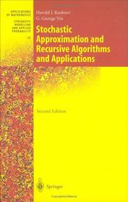 Cover of: Stochastic approximation and recursive algorithms and applications