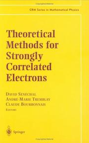 Cover of: Theoretical methods for strongly correlated electrons by
