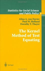 Cover of: The Kernel method of test equating by