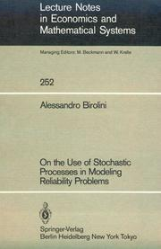 Cover of: On the use of stochastic processes in modeling reliability problems