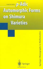 Cover of: p-Adic Automorphic Forms on Shimura Varieties