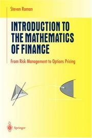Cover of: Introduction to the Mathematics of Finance: From Risk Management to Options Pricing (Undergraduate Texts in Mathematics)