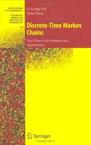 Cover of: Discrete-Time Markov Chains: Two-Time-Scale Methods and Applications (Stochastic Modelling and Applied Probability)