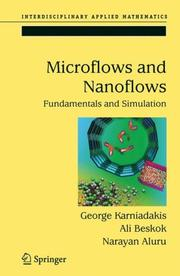 Cover of: Microflows and nanoflows |