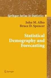 Cover of: Statistical demography and forecasting by