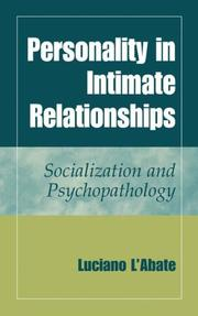 Cover of: Personality in intimate relationships: socialization and psychopathology