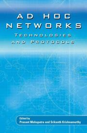 Cover of: AD HOC NETWORKS |