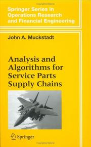 Cover of: Analysis and Algorithms for Service Parts Supply Chains