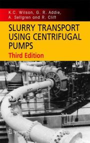 Cover of: Slurry transport using centrifugal pumps |