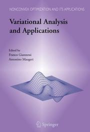 Cover of: Variational analysis and applications |