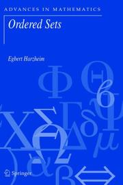 Cover of: Ordered Sets (Advances in Mathematics) | Egbert Harzheim