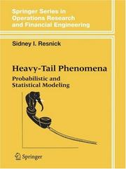 Cover of: Heavy-Tail Phenomena | Sidney I. Resnick