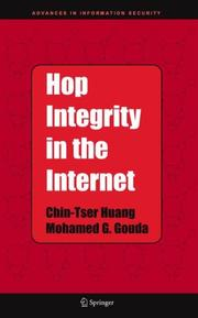Cover of: Hop Integrity in the Internet (Advances in Information Security) | Chin-Tser Huang