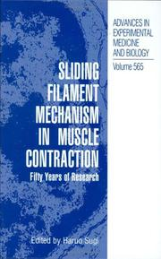 Cover of: Sliding Filament Mechanism in Muscle Contraction | Haruo Sugi