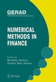 Cover of: Numerical Methods in Finance (Gerad 25th Anniversary) |