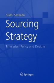 Cover of: Sourcing Strategy | Sudhi Seshadri
