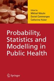 Cover of: Probability, Statistics and Modelling in Public Health |