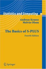 The basics of S-Plus by