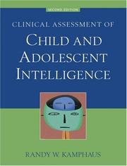 Cover of: Clinical assessment of child and adolescent intelligence