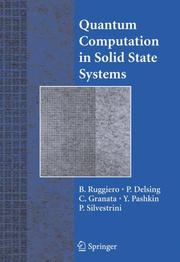 Cover of: Quantum Computation in Solid State Systems |