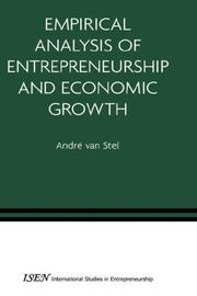 Cover of: Empirical Analysis of Entrepreneurship and Economic Growth (International Studies in Entrepreneurship) | AndrГ© van Stel