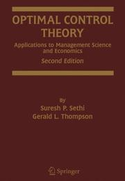 Cover of: Optimal control theory |
