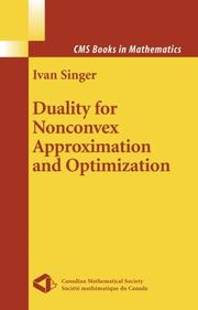 Cover of: Duality in nonconvex approximation and optimization