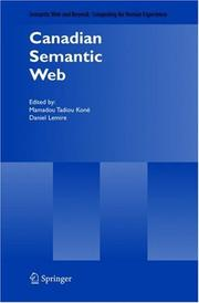 Cover of: Canadian Semantic Web (Semantic Web and Beyond) |